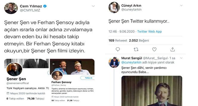 Ünlü oyunculardan 'Şener Şen' uyarısı