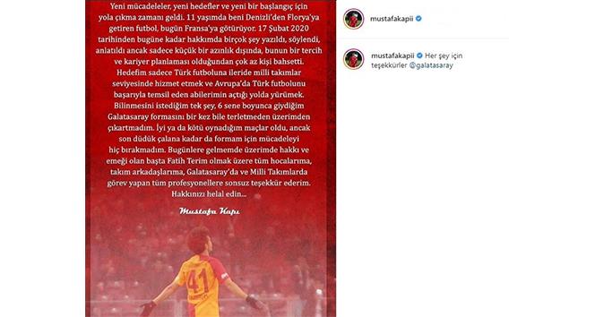 Mustafa Kapı'dan Galatasaray'a veda