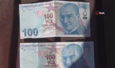 Bankadan çektiği parayı görünce şoke oldu
