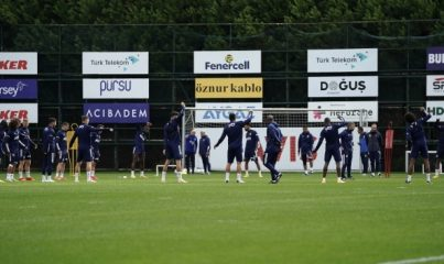 Fenerbahçe'de Perotti takımla birlikte çalıştı