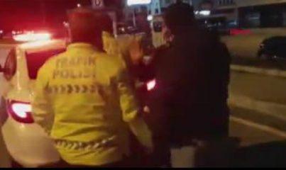 Kısıtlamada alkol alıp, trafiğe çıkan iki arkadaşa para cezası