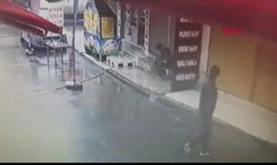 İş yerinden gündüz vakti uydu alıcısı hırsızlığı kamerada
