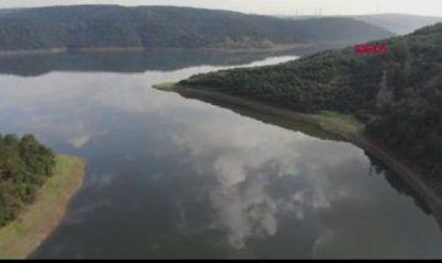 İSTANBUL'DA BARAJLARIN DOLULUK ORANI YÜZDE 43.45'E ULAŞTI (Havadan görüntülerle)