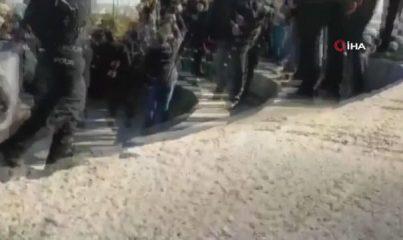 İzinsiz gösteri yapan 17 kişi gözaltına alındı