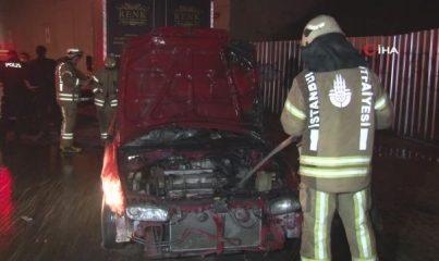 Kağıthane'de araç kundaklama iddiası