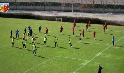 KAYSERİ - Kayserispor'da, Büyükşehir Belediye Erzurumspor maçı hazırlıkları sürüyor