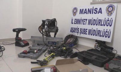 MANİSA - Atölyesinden çalınan ekipmanları 18 gün sonra bulunan esnaftan polise teşekkür