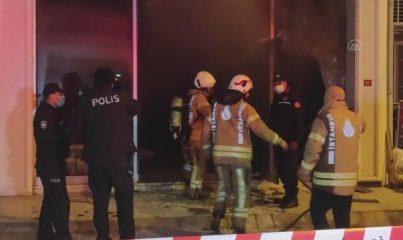 İSTANBUL - Maltepe'de iş yerinde çıkan yangında 1 kişi öldü