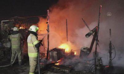 İZMİR - Tır bakım istasyonunda yangın
