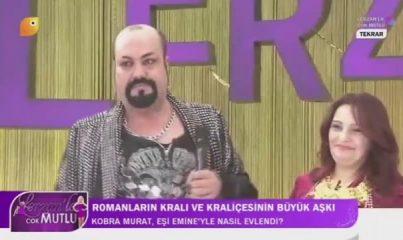 Kobra Murat, canlı yayında peruğunu çıkardı
