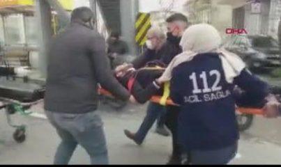 KOCAELİ Otomobil ile kaldırım arasına sıkışan motosiklet sürücüsü yaralandı
