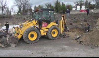 Mezarlıkta izinsiz kazı iddiası üzerine inceleme başlatıldı
