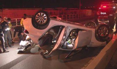İzmir'de otomobil takla attı: 1 yaralı