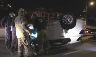 İZMİR - Meydana gelen trafik kazasında 1 kişi yaralandı