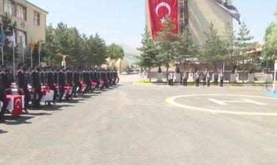 ERZURUM - Polis adaylarının mezuniyet sevinci
