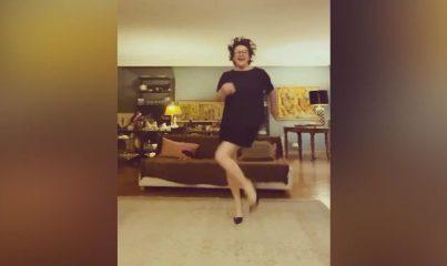 Esra Dermancıoğlu'ndan sabah dansı