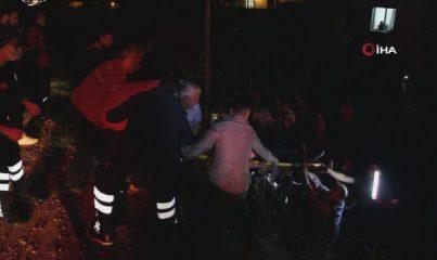Kontrolden çıkan otomobil uçuruma düşüp ters döndü: 3 ağır yaralı