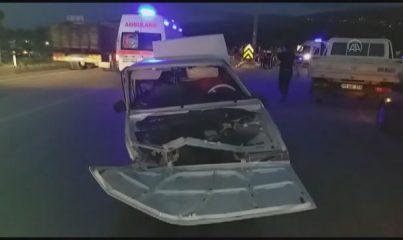 MANİSA - Takla atan otomobilden fırlayan sürücü öldü