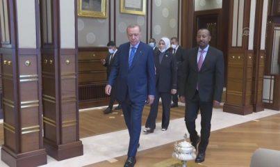 ANKARA - Cumhurbaşkanı Erdoğan, Etiyopya Başbakanı Ahmed'i kabul etti