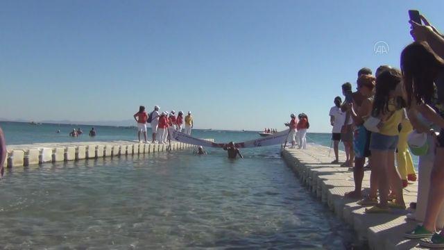 BALIKESİR - Açık Su Yüzme Şampiyonası, Ayvalık'ta yapıldı