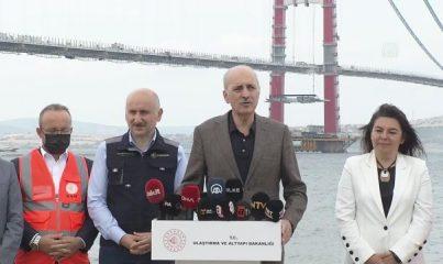 """ÇANAKKALE - Numan Kurtulmuş: """" Bu köprü Türkiye'nin iftihar projelerinden birisidir"""""""