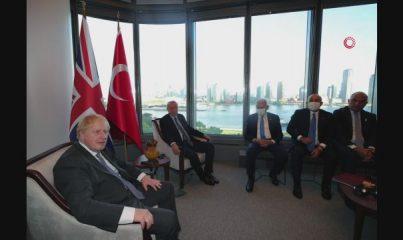 Cumhurbaşkanı Erdoğan, İngiltere Başbaşkanı Johnson ile görüştü