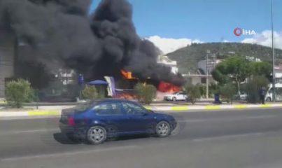 Edremit'te iş yeri yangını: 1 ölü, 1 yaralı