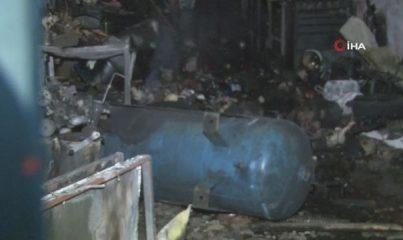 Oto elektrikçide çıkan yangında 1 çocuk hayatını kaybetti, 2 kişi yaralandı